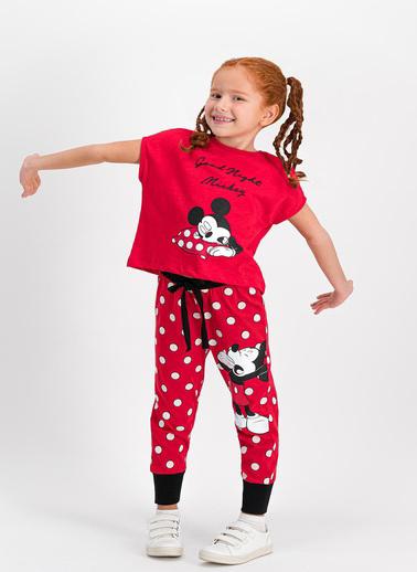 Mickey Mouse Pijama Takım Kırmızı